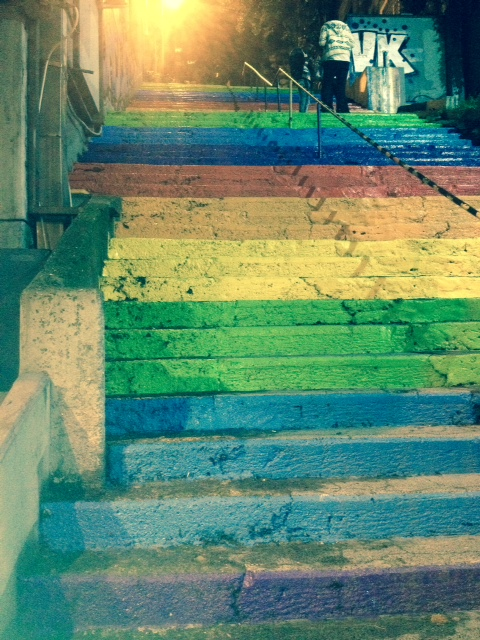 rainbow steps in Istanbul